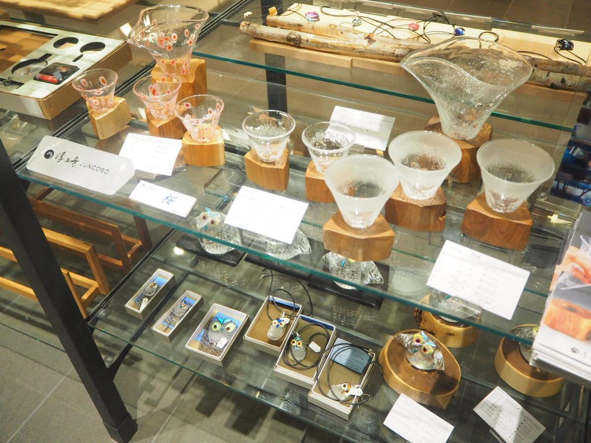 星野リゾートOMO7旭川お土産スペースのガラス細工