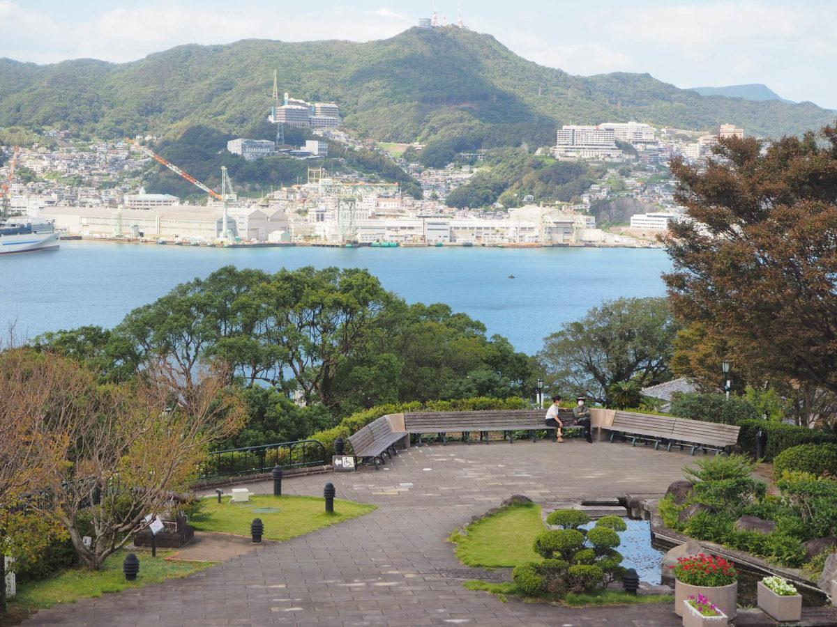 グラバー園から望む長崎の街並み