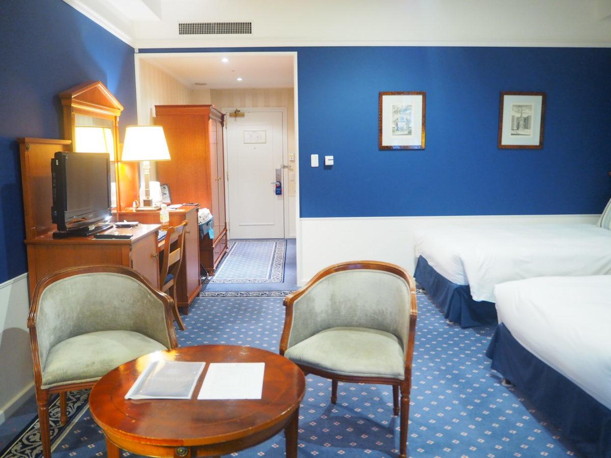 ホテルアムステルダムのスーペリアルームのリビング
