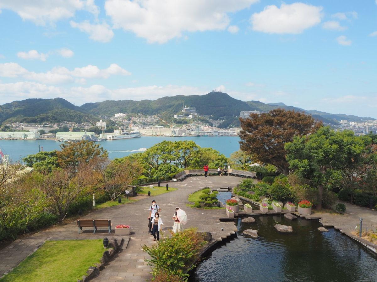 グラバー園内の日本庭園