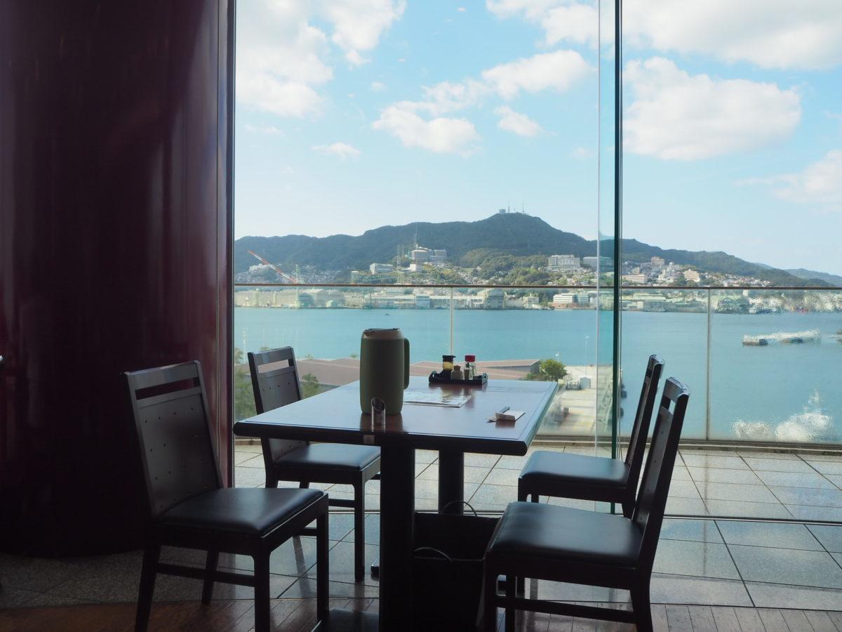四海樓のレストランからの眺め