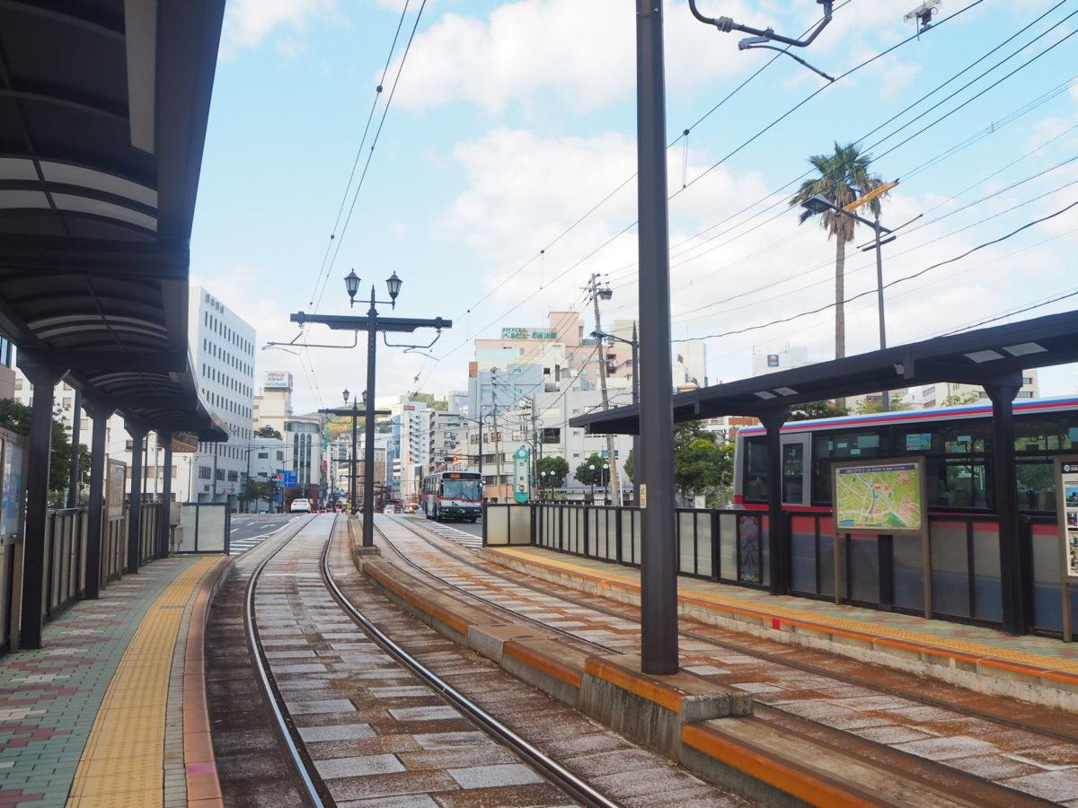 長崎市の「出島」電停