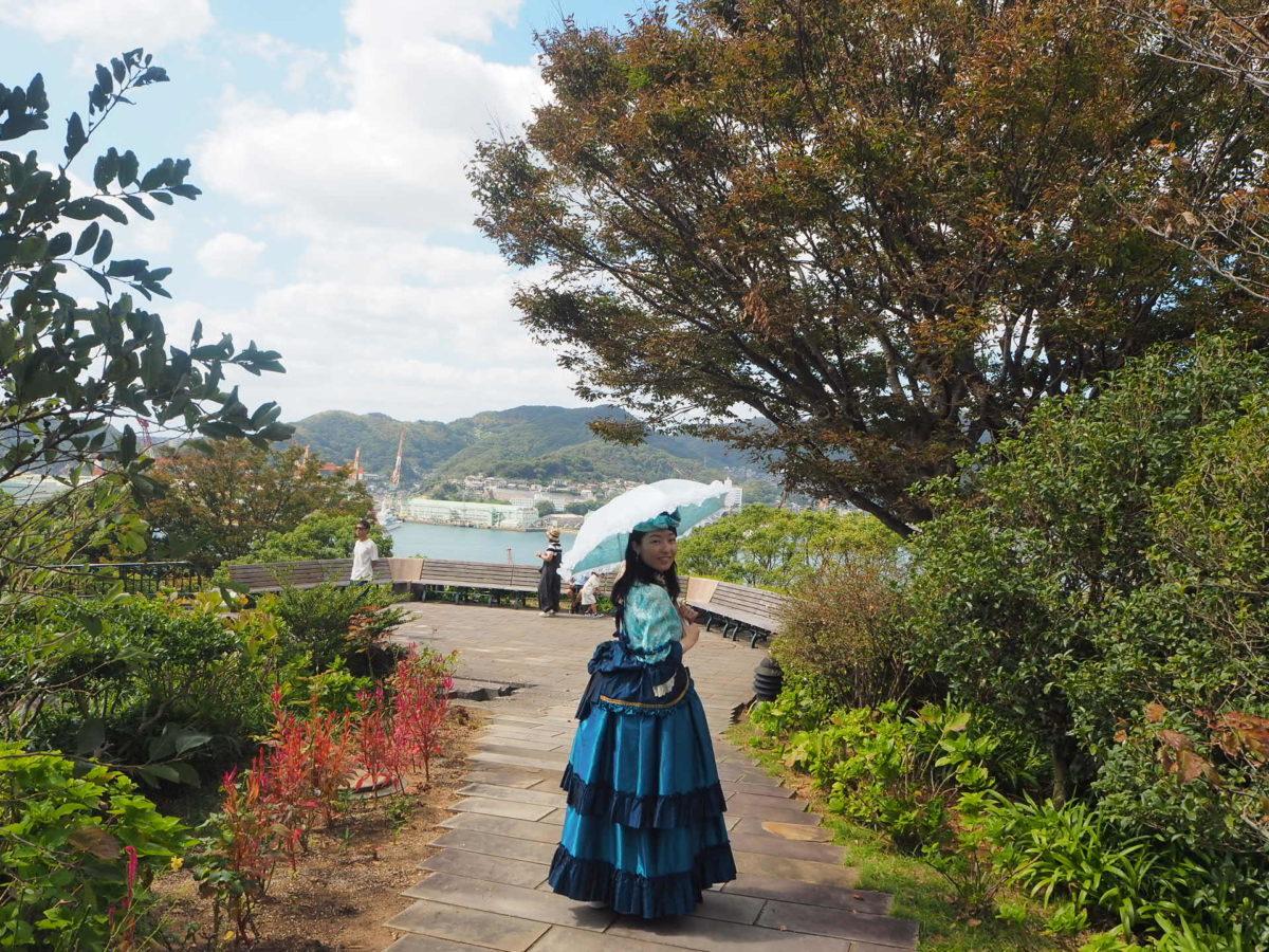 グラバー園のレトロ写真館のドレス